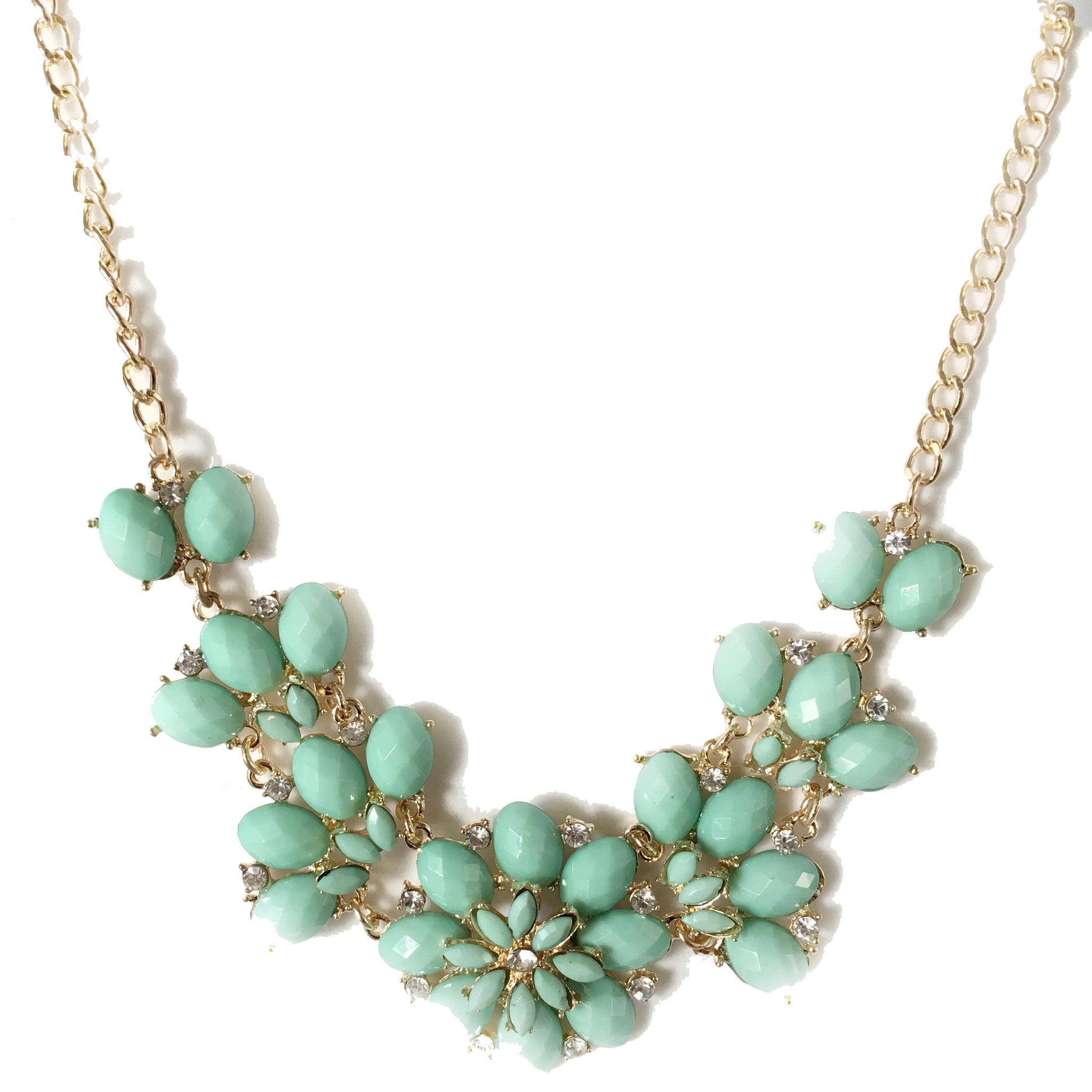Lucille Pastel Turquoise Flower Necklace - Micha Store  - 1