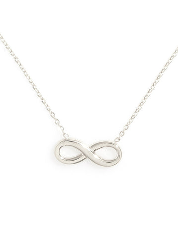 Clarissa Infinity Sterling Silver Necklace - Micha Store