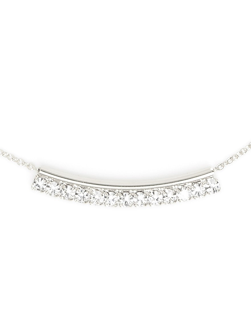 Blanche Silver and Crystal Statement Necklace - Micha Store  - 1