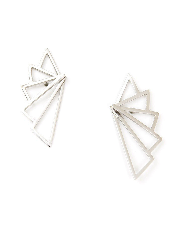 Felicity Silver Fan Earrings - Micha Store  - 1
