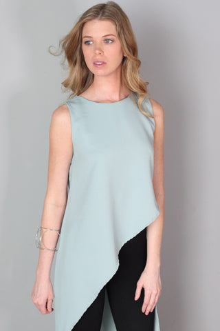 Nova Mint Green Asymmetrical Tank Top
