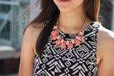 Aphrodite Light Pink Fashion Necklace - Micha Store  - 2