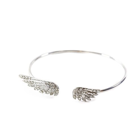 Angelic Silver Wings Bracelet