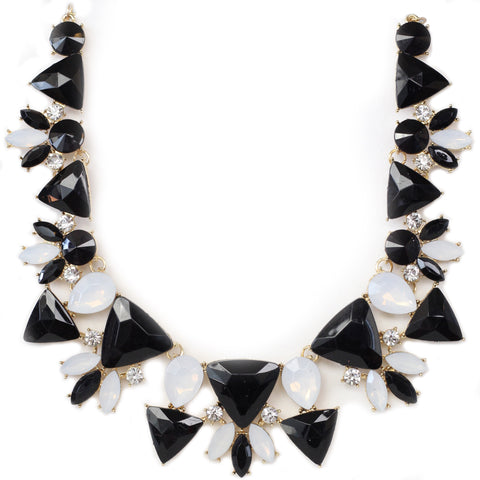 Istas Black and White Statement Necklace - Micha Store