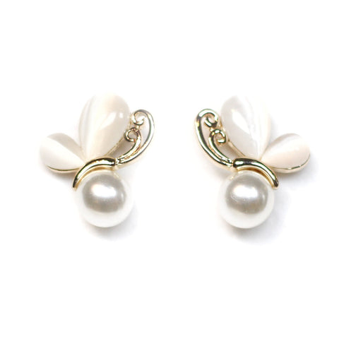 Mariposa Pearl and Butterfly Earrings