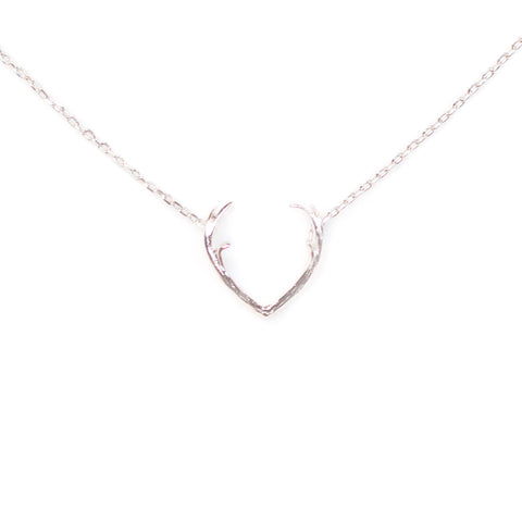 Mrs. Deer Silver Necklace
