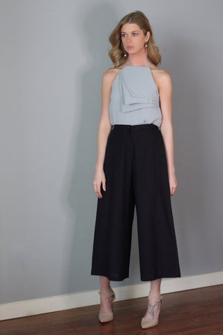 Tabitha Black Wide Legged Pants Culottes