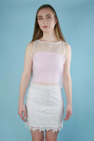 Olivia Pink Transparent Top