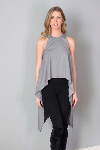 Knox Olive Green/Gray Asymmetrical Top