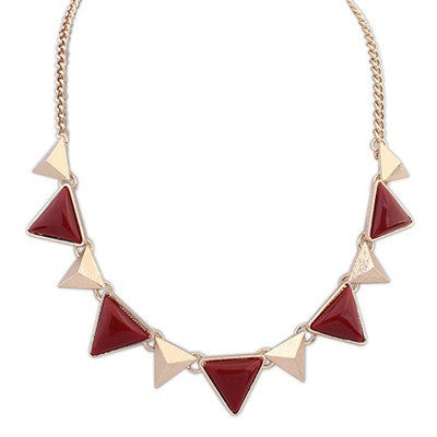 Amelia Maroon Fashion Necklace - Micha Store  - 1
