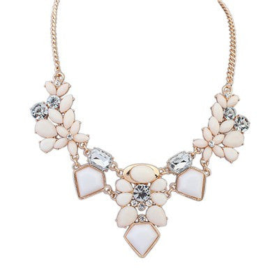 Hadley Flower Geometric Fashion Necklace - Micha Store  - 1