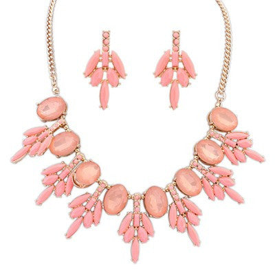 Aphrodite Light Pink Fashion Necklace - Micha Store  - 1