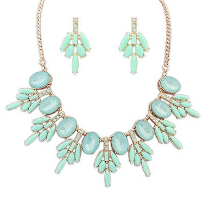 Aphrodite Light Turquoise Fashion Necklace - Micha Store  - 1
