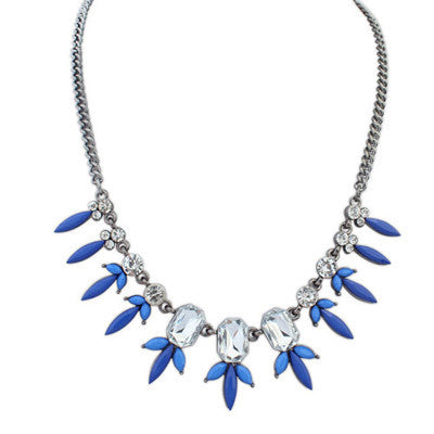 Calla Petite Flower Fashion Necklace (Dark Blue) - Micha Store  - 1