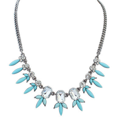 Calla Petite Flower Fashion Necklace (Blue) - Micha Store