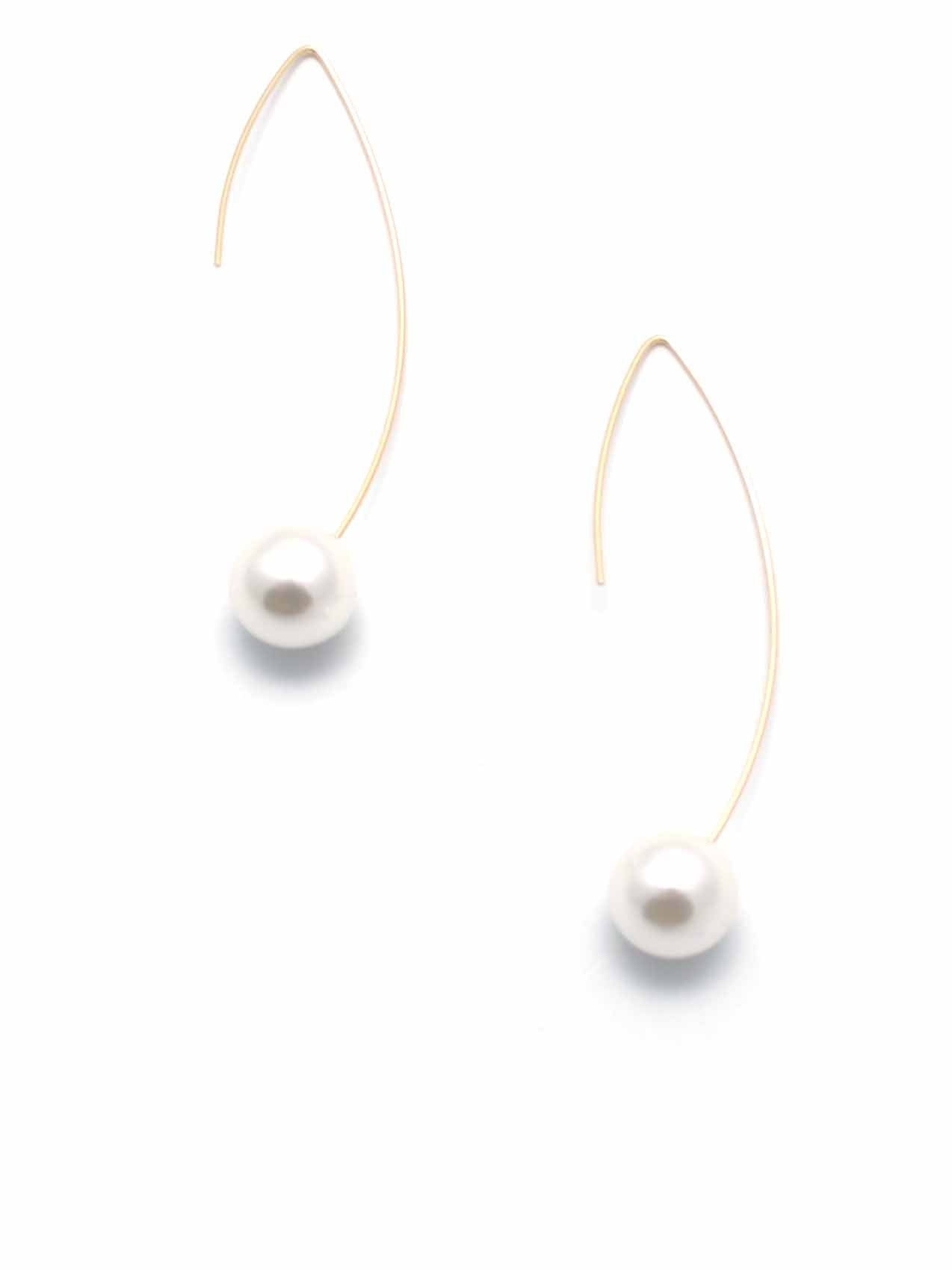 Astrid Gold Pearl Earrings - Micha Store  - 1