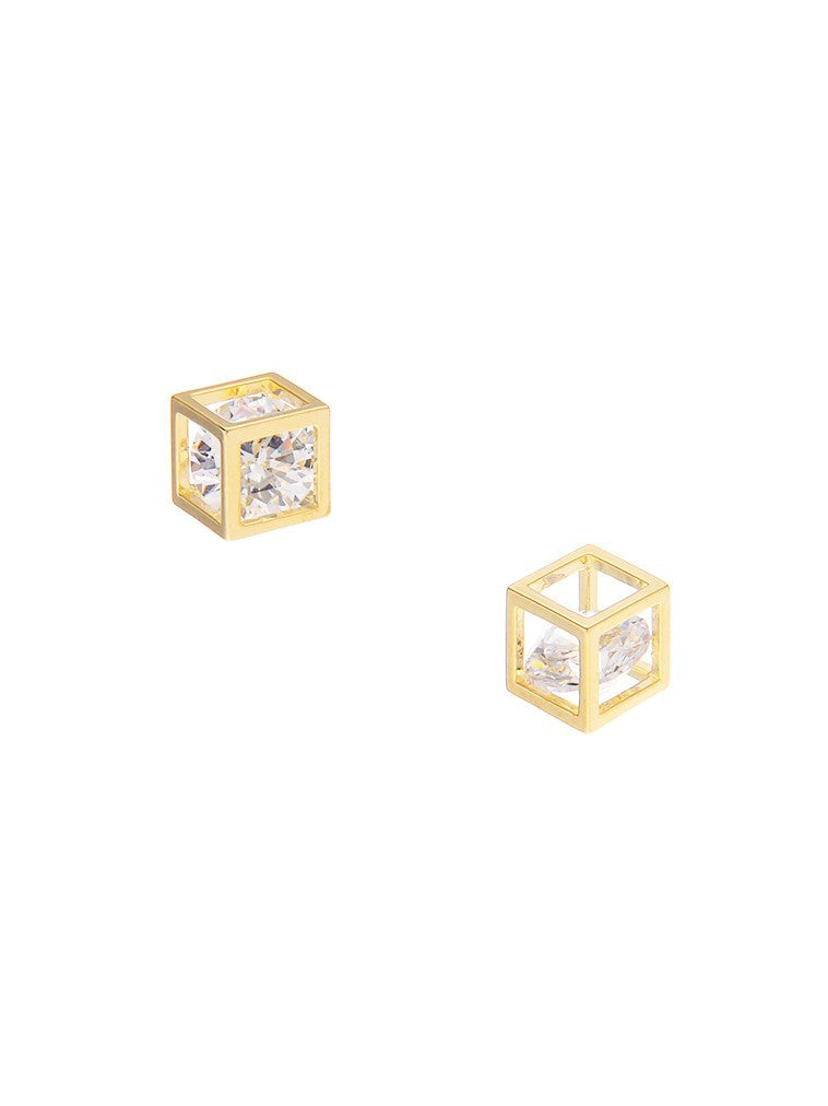 Ione Rubik Gold Earrings - Micha Store  - 1