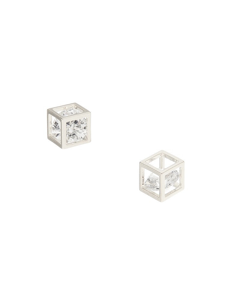 Ione Rubik Silver Earrings - Micha Store  - 1