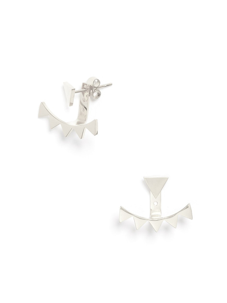 Gretta Edgy Silver Earrings - Micha Store  - 1