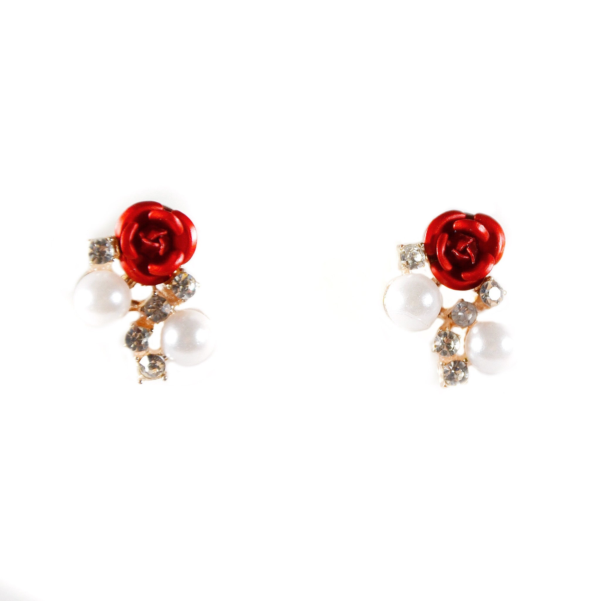 Roselle Flower Earrings