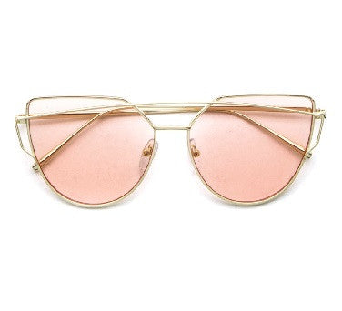 Marilyn Pink - Gold Sunglasses