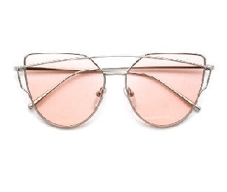 Marilyn Pink - Silver Sunglasses