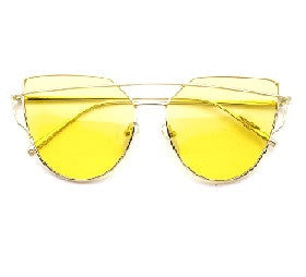 Marilyn Yellow - Gold Sunglasses