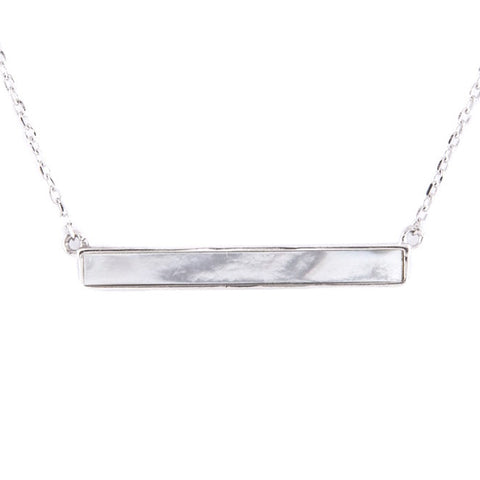 Lea Sterling Silver Bar Necklace