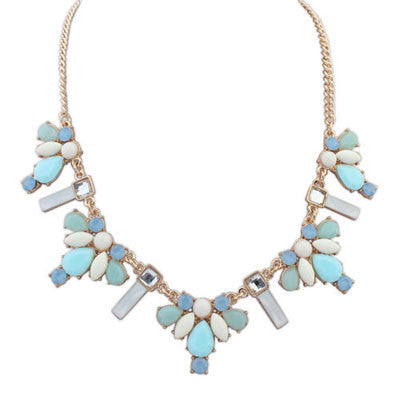 Celeste Sky Blue Fashion Necklace - Micha Store  - 1