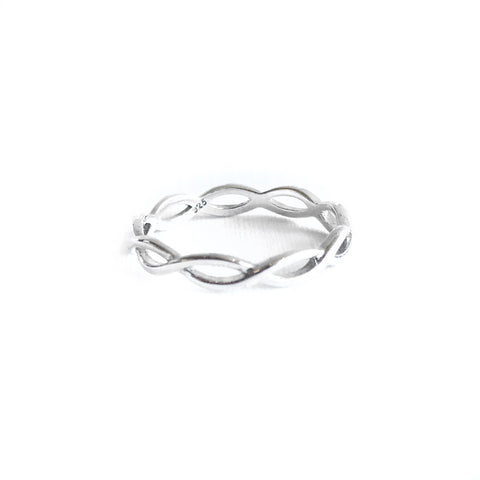 Devonte Silver Braided Rings