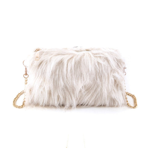 Furry Monster Ivory Sling Bag