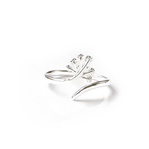 Kayla Silver Branch Ring
