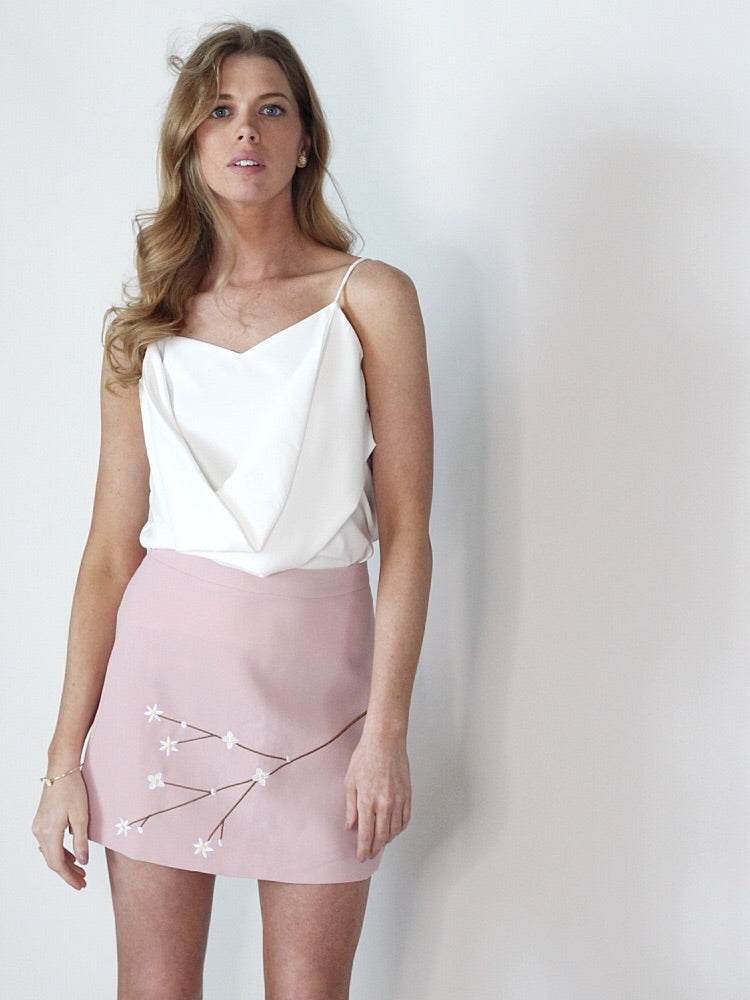 Sakura Pastel Pink Mini Skirt