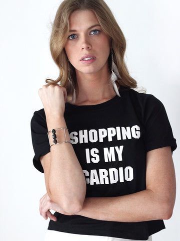 Shopping is My Cardio Cropped Tee