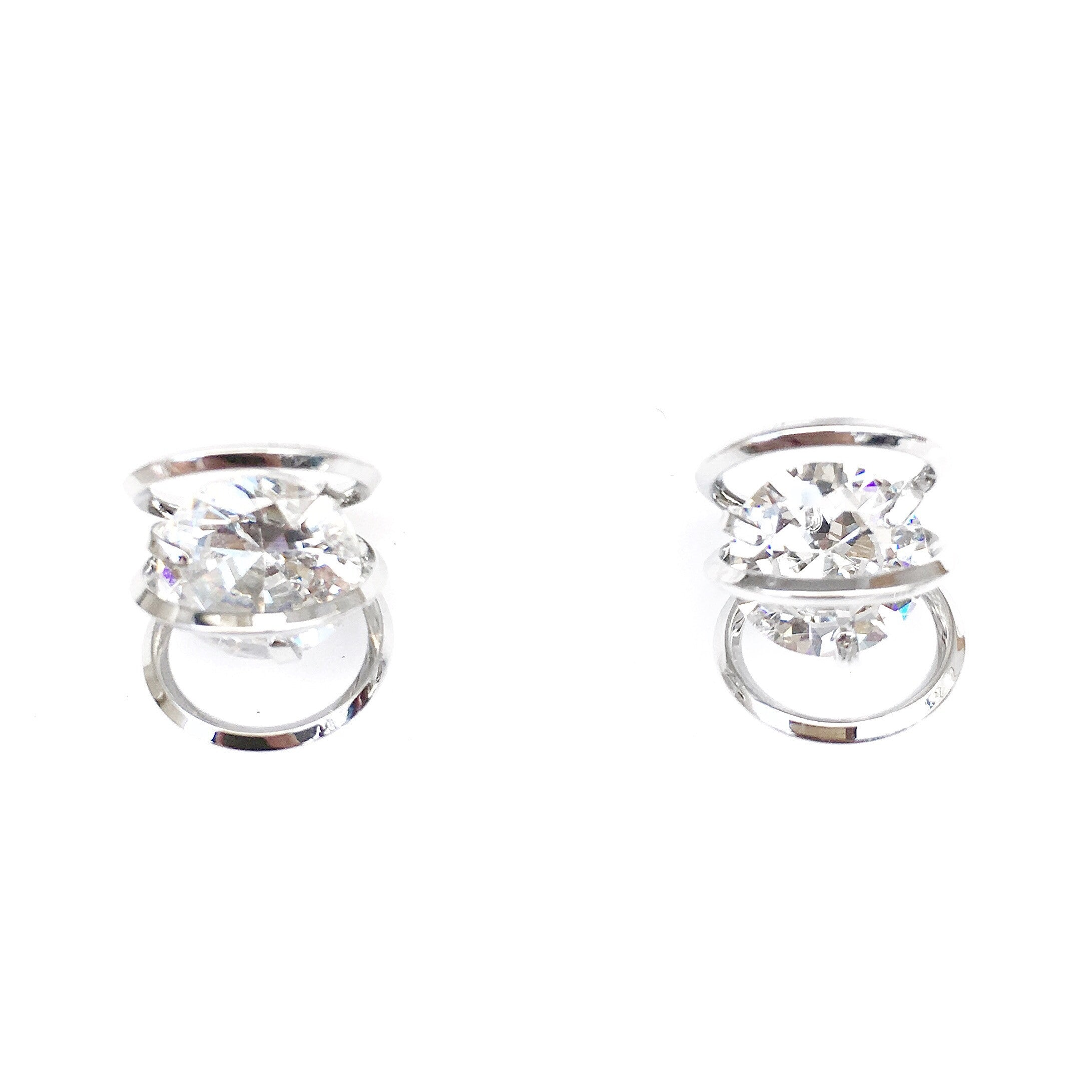 Carla Silver Diamond Earrings
