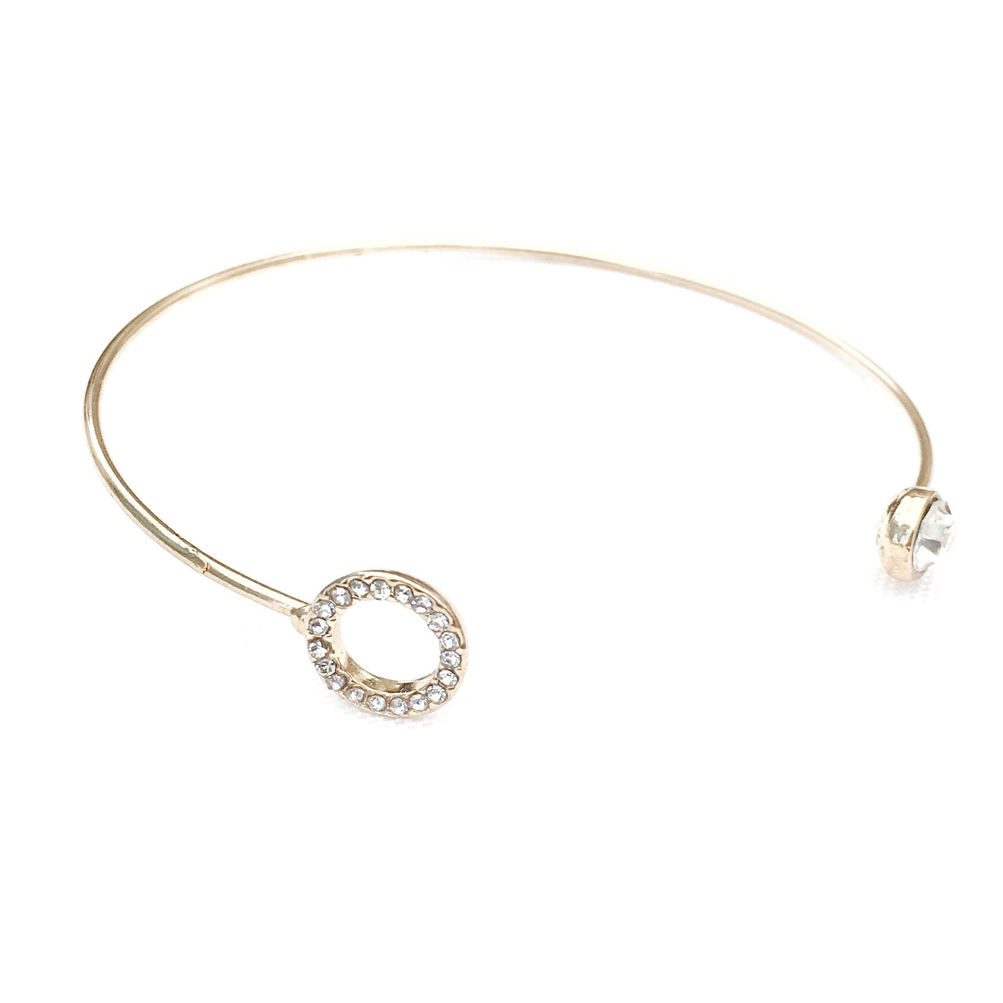 Ophelina Rose Gold Simple Bracelet