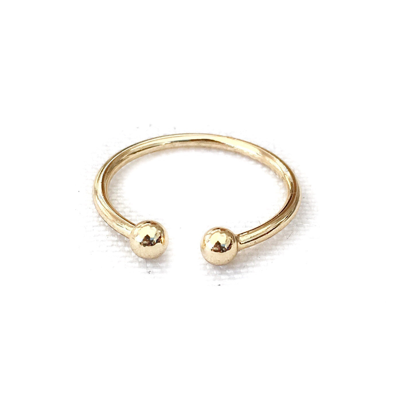 Two Dots Gold Ring