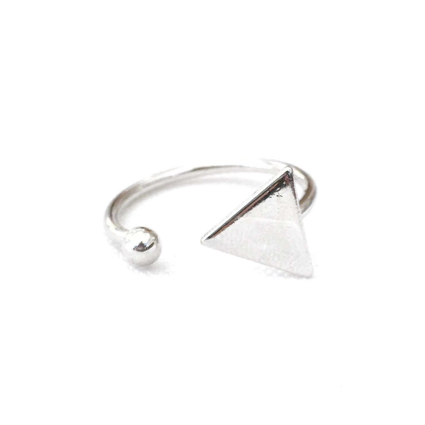 Triangle Dot Silver Ring