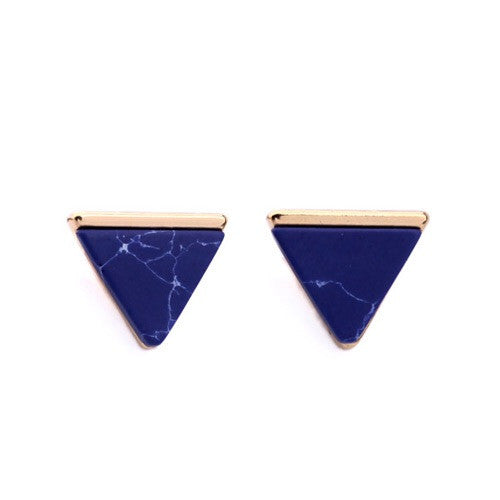 Vita Navy Blue Marble Earrings