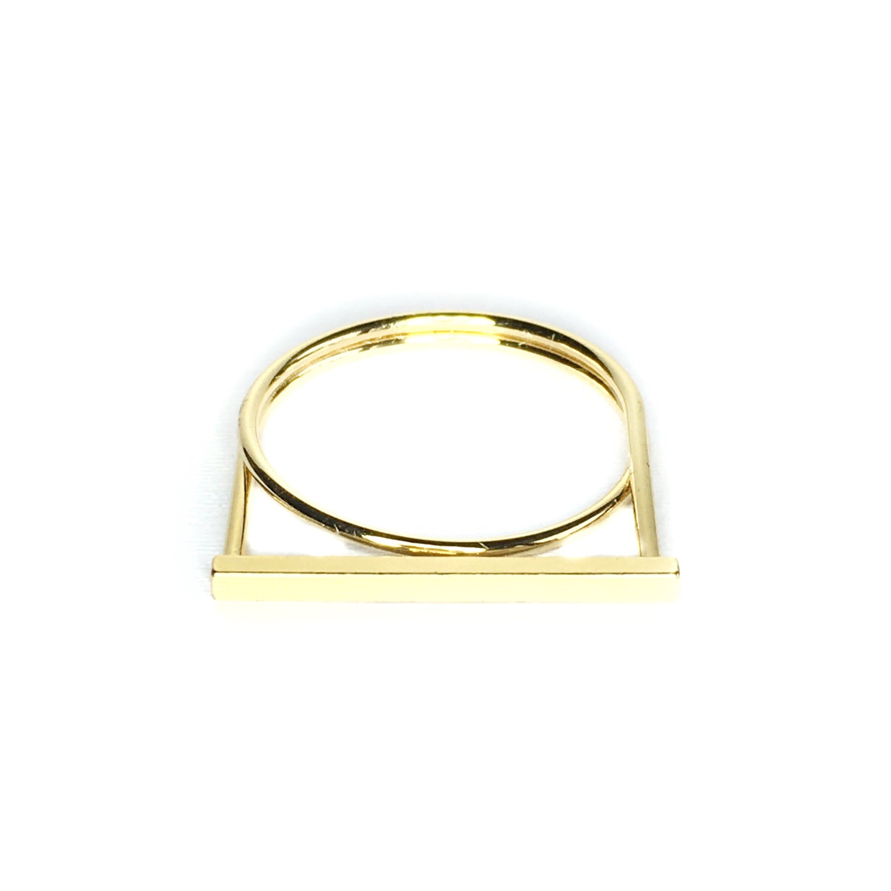 One Line Gold Ring