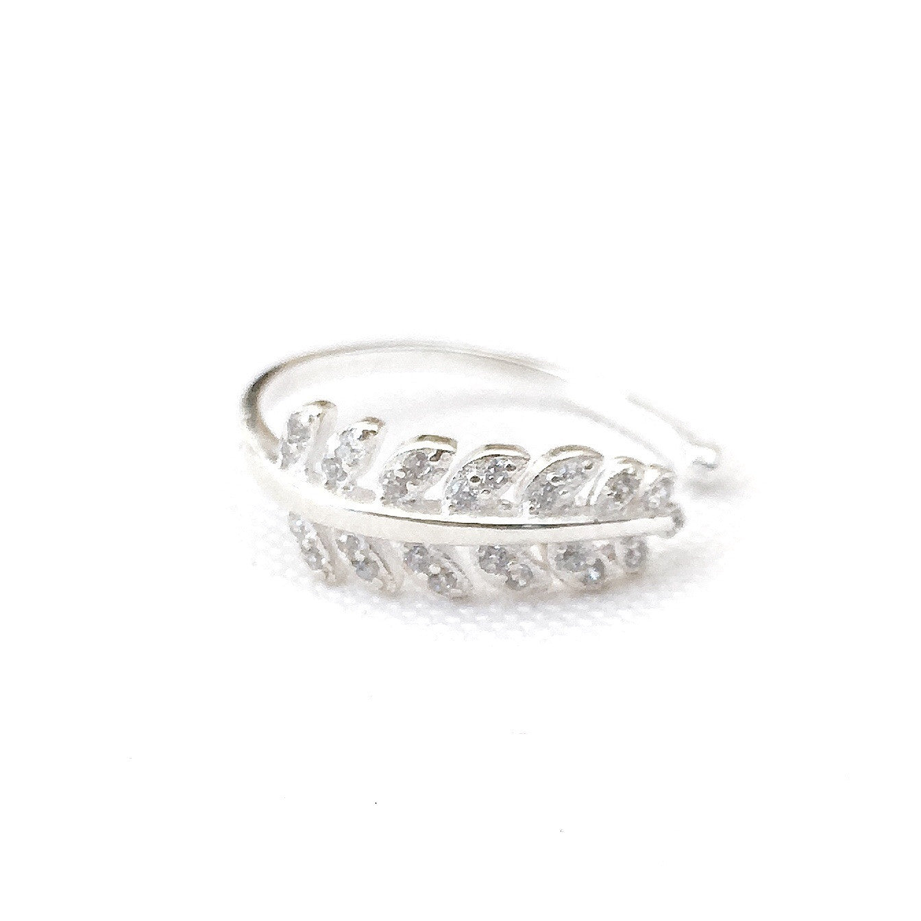 Kaye Leaf Sterling Silver Ring