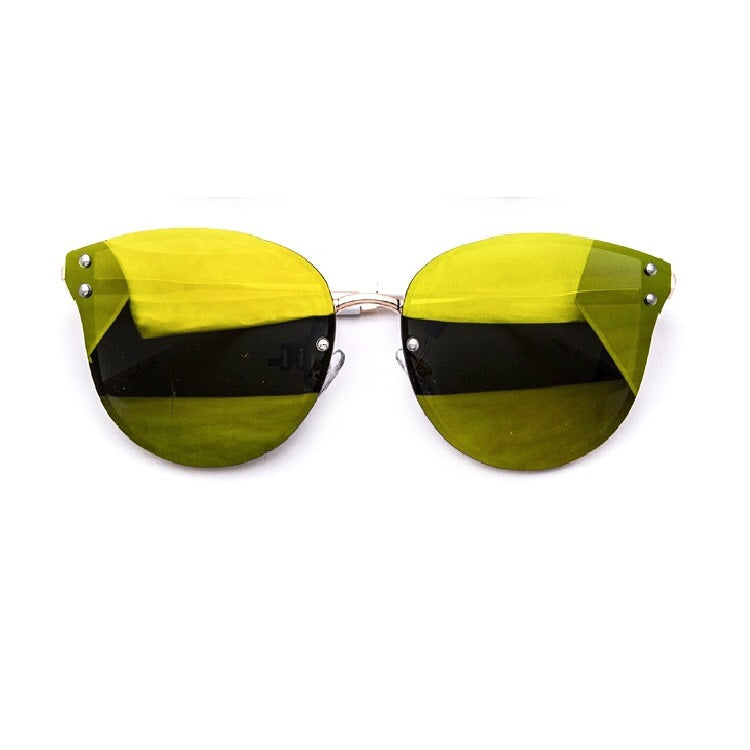 Zander Rimless Yellow Reflective Sunglasses