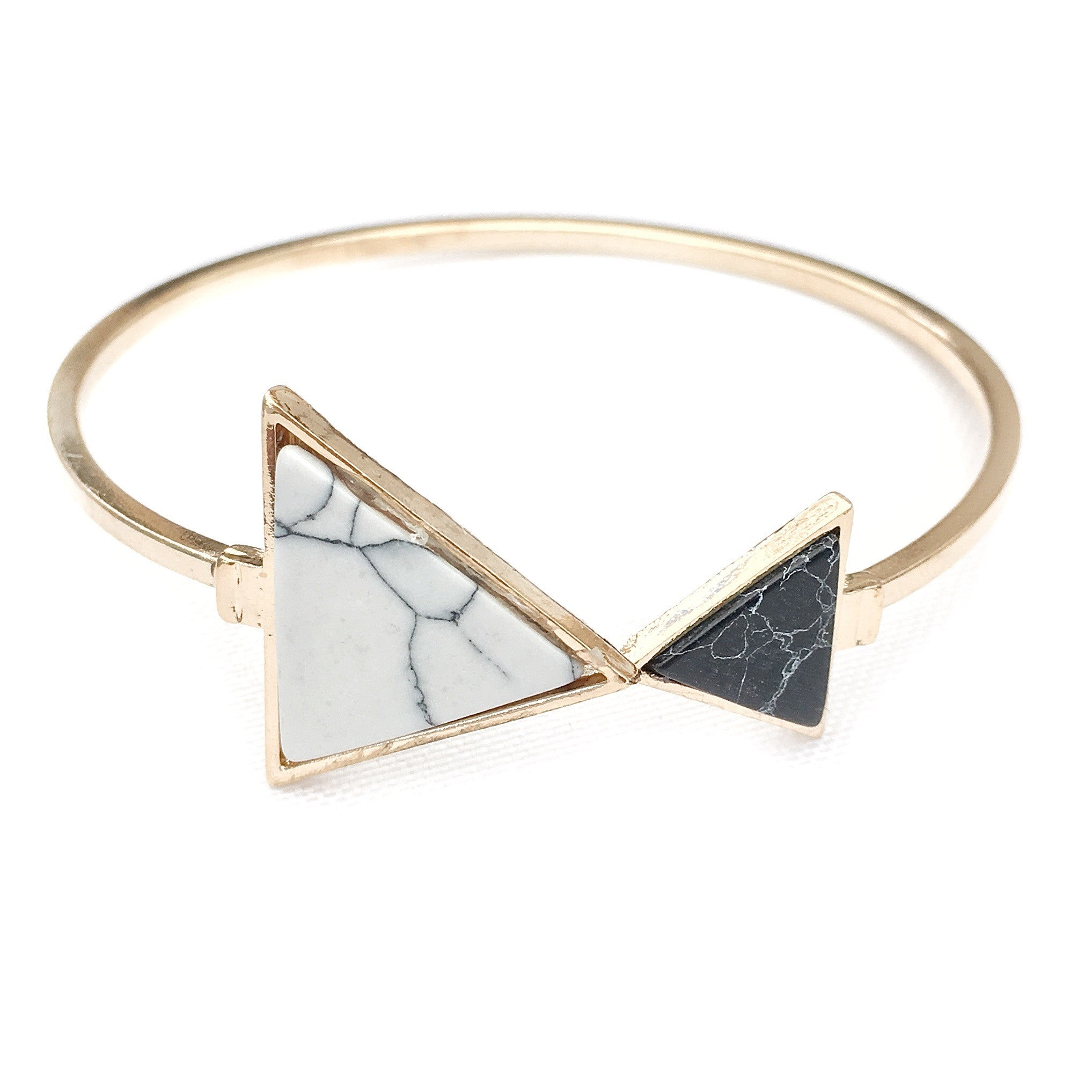 Marby Triangle Marble Gold Bracelet