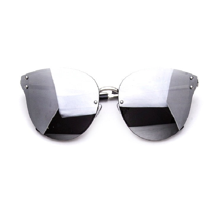 Zander Rimless Chrome Reflective Sunglasses