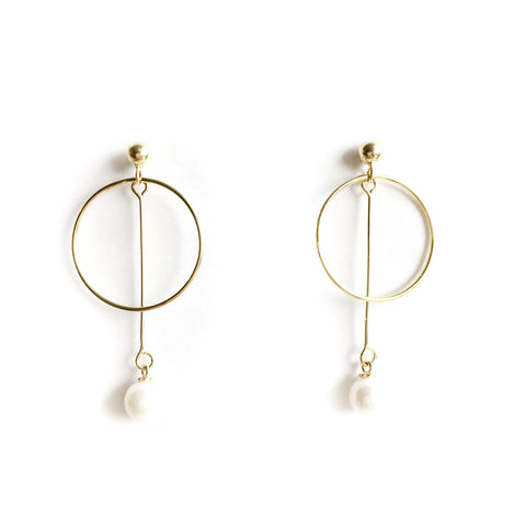 Odelia Sterling Silver (Gold Plated) Dangling Earrings