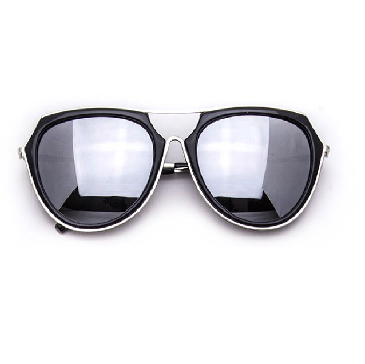 Jax Silver and Black Reflective Sunglasses
