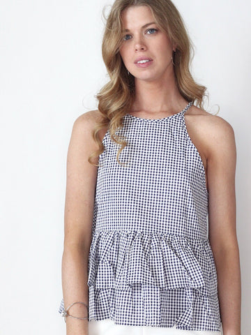 Chic Check Gingham Black and White Top
