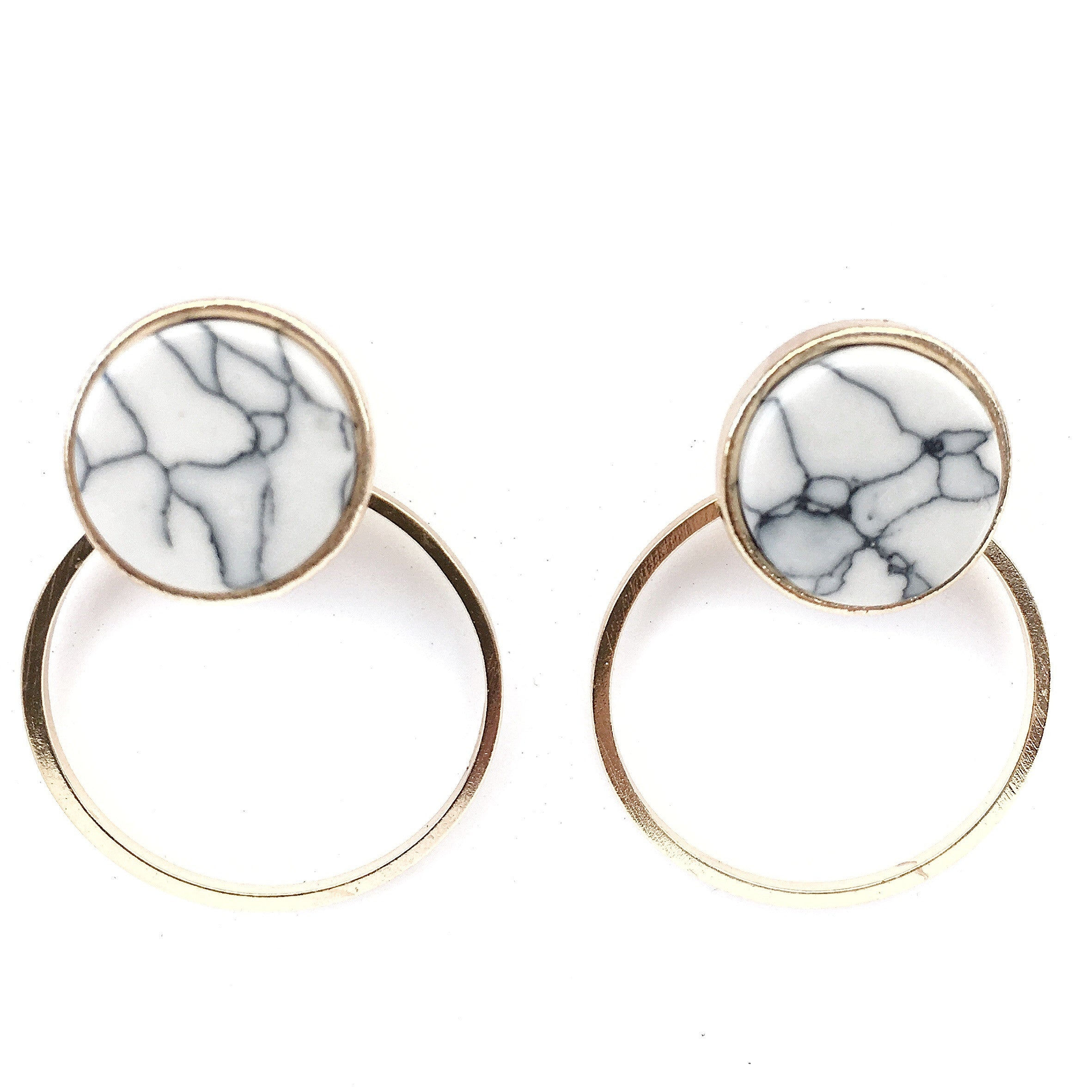 Reika Marble Earrings