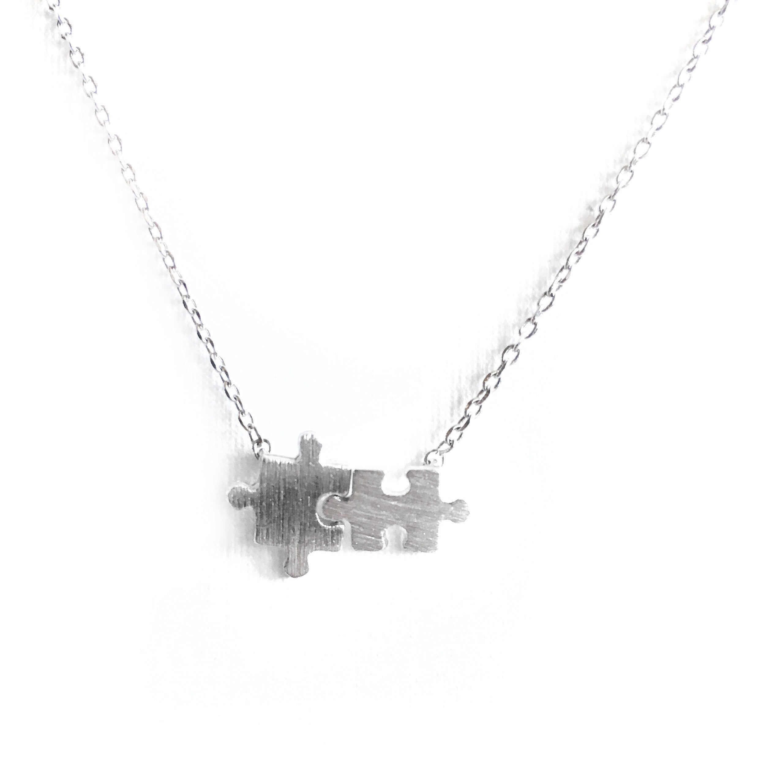 Puzzle Silver Necklace