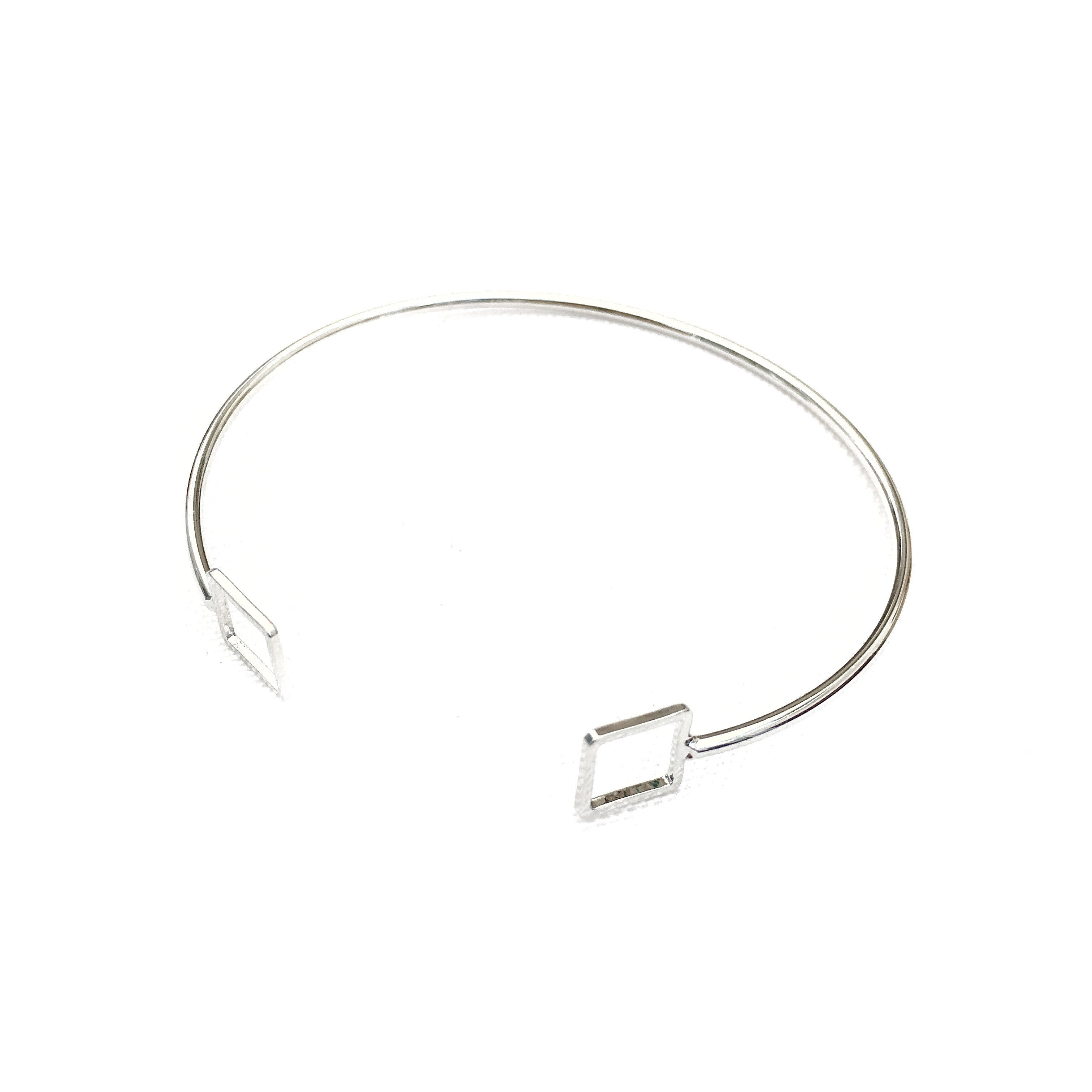 Duo Square Silver Bracelet